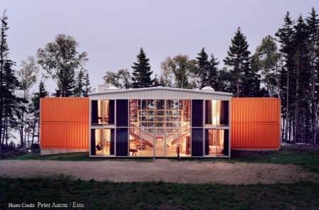 Adam Kalkin's 12 Container House modern prefab home.