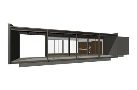 Sander Architects Model 1 prefab home.