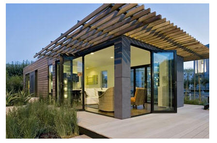 MK Designs by Blu Homes mkLotus prefab home.